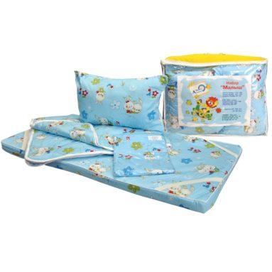 Набор «Малыш» КПБ, матрац 60*120, одеяло, подушка 40*60, бортики