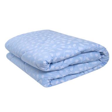 Одеяло с наполнителем «Лебяжий Пух» 172*205 сатин цветная