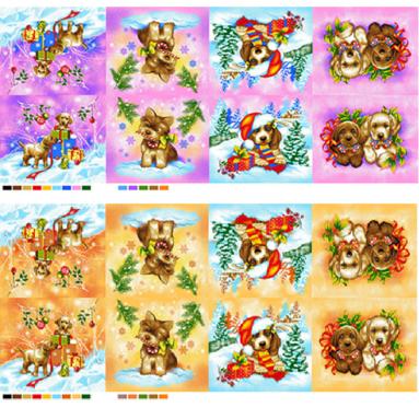 Полотенце вафельное «Собаки-6» 35*30 арт. 22141