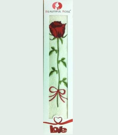 Полотенце махровое в подарочной коробке (цветок)