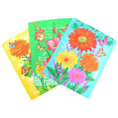 Полотенце вафельное Цветы-стихи 45×60 арт-23165