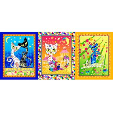 Полотенце вафельное Кошки цветные 45×60 арт23167