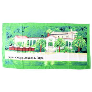 Полотенце махрово-велюровое Абхазия Гагра 70×130 арт 12180
