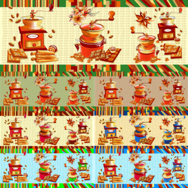 Полотенце вафельное Кофейная церемония 45×60 арт 22123