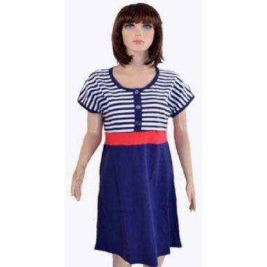 Платье женское синее полоса