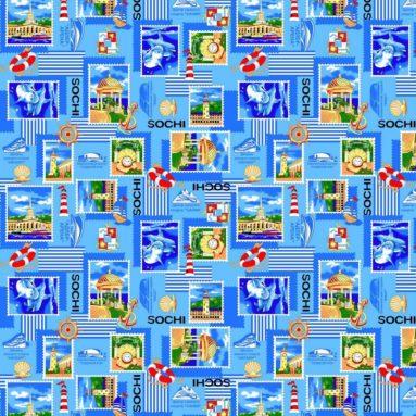Полотенце вафельное пляжное Сочи Марка 35×60 арт 3560СМ