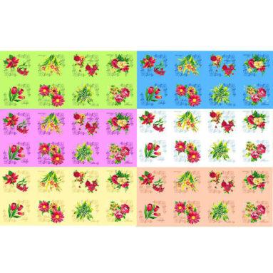 Полотенце вафельное Цветы 35×60 арт 12169-ц