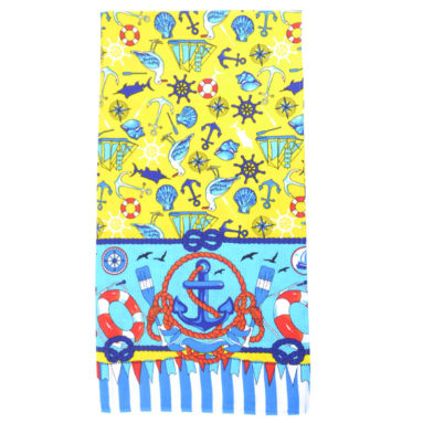 Полотенце вафельное пляжное 80х150 80150ПА