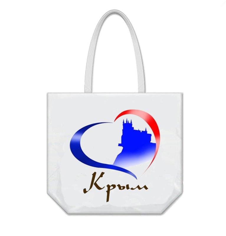 Сумка пляжная «Виды Крыма» Люблю Крым