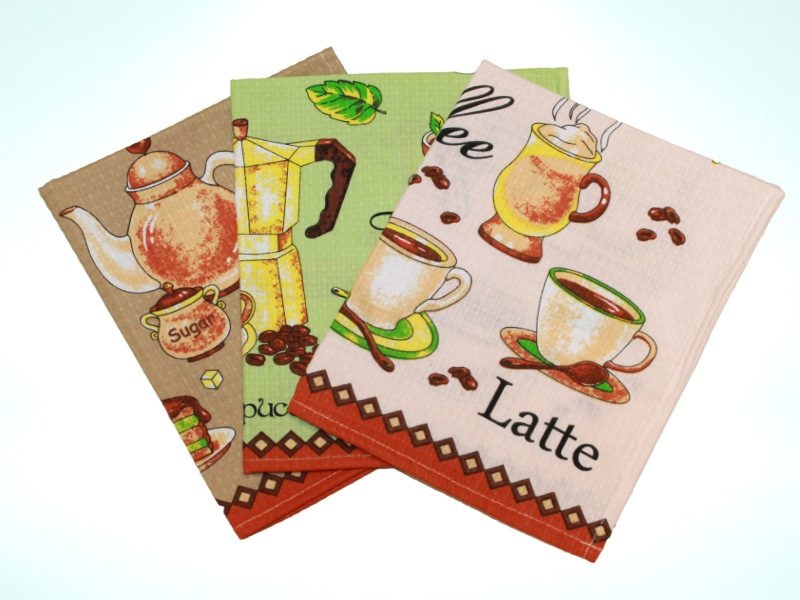 Полотенце вафельное «Кофе» арт. 15044