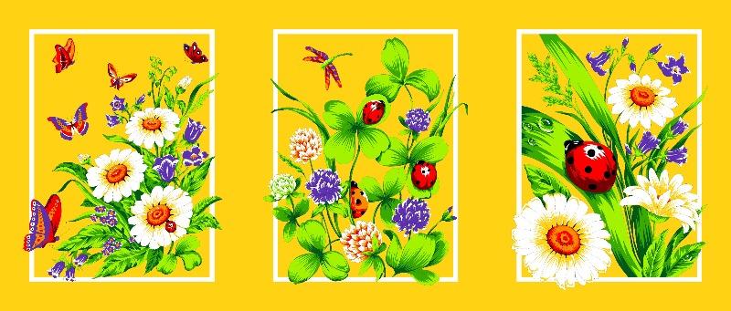 Полотенце вафельное «Лето» арт. 12169